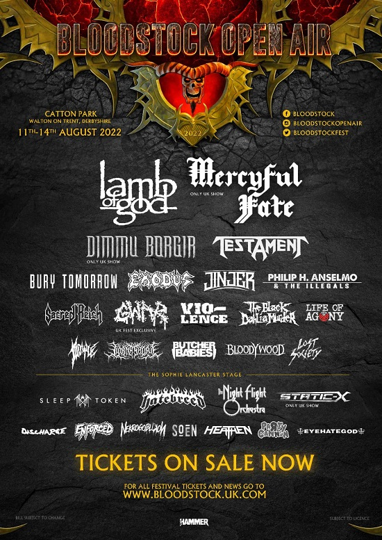 Updated poster for Bloodstock 2022