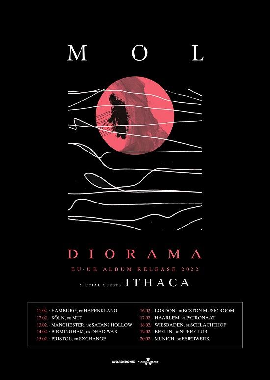 MØL - Diorama 2022 tour poster