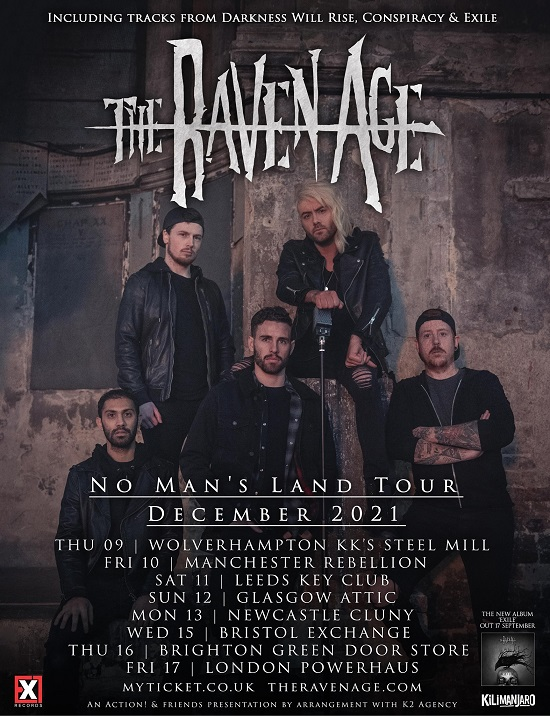 The Raven Age December 2021 tour poster
