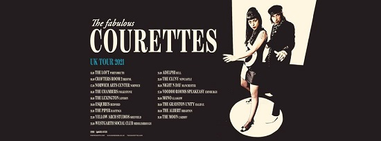 The Courettes October 2021 tour poster